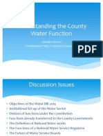 Discussion on the Water Bill 2014