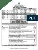 Calendário Acadêmico Da Pós Graduação 1ºsemestre de 2015