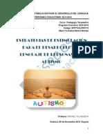Las Estrategias de Estimulacion Para El Desarrollo Del Lenguaje de Personas Con Autismo