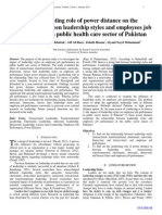 The Moderating role of power distance on the relationship between leadership styles and employees job performance on public health care sector of Pakistan