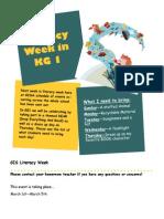 literacy week poster