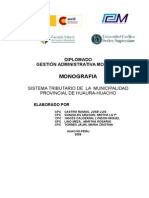 Sustena Tributario de La Mun Prov Huaura Huacho