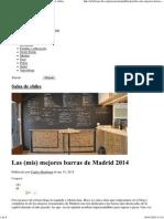 Las (Mis) Mejores Barras de Madrid 2014 _ Salsa de Chiles