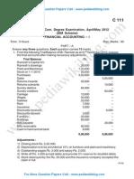 Finance Accounting 1 May 2012