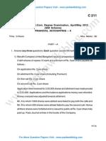 Finance Accounting 2 May 2012