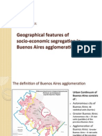 Geographic features of Socioeconomic Segregation in Buenos Aires