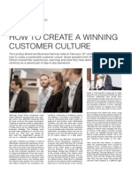 How to Create a Winning Customer Culture