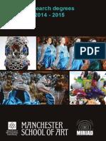 MIRIAD Research Degree Handbook 14-15