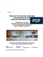 Guidelines for English Certificate Project