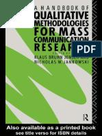 Jensen - A Handbook of Qualitative Methodologies for Mass Communication Research