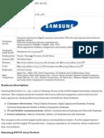 Samsung Electronics SWOT analysis 2015 | Strategic Management Insight