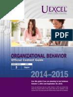 Exam Content Guide Organizational Behavior