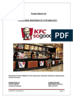 Project Report on Kfc Bhoomika