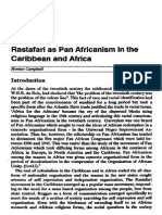 Horace Campbell - Rastafari as Pan Africanism in the Carribean and Africa
