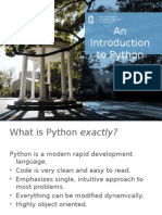 A Thorough Introduction to Python