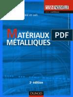 Matériaux Métalliques - 2ème Édition