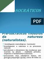 3ª AULA - Pré-Socráticos