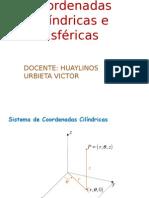 Coordenadas Cilindricas e Esfericas -Fija