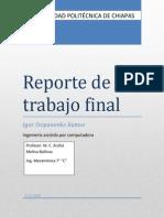 Reporte Engranes mecatronica