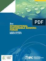 2nd International Sustainable Banking Forum - Lagos, Nigeria, March 2-4, 2014