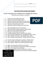 22 ways to practice your vocabulary words