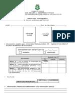 Formulario de Inscricoes Preliminares
