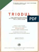 Triodion (Triodul)