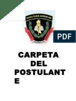 Carpeta de Postulante 2015-i Mayores Santa Lucia