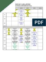 Horário de Aulas Engenharia Civil 2015 1