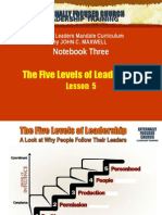 Lesson 5 - The Five Levels of Leadership