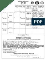 Legion Calendar March 2015