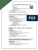 Requisitos Bachiller Secretaria General