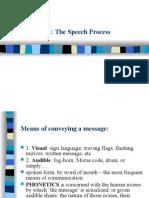 Lecture 1 Speech Process