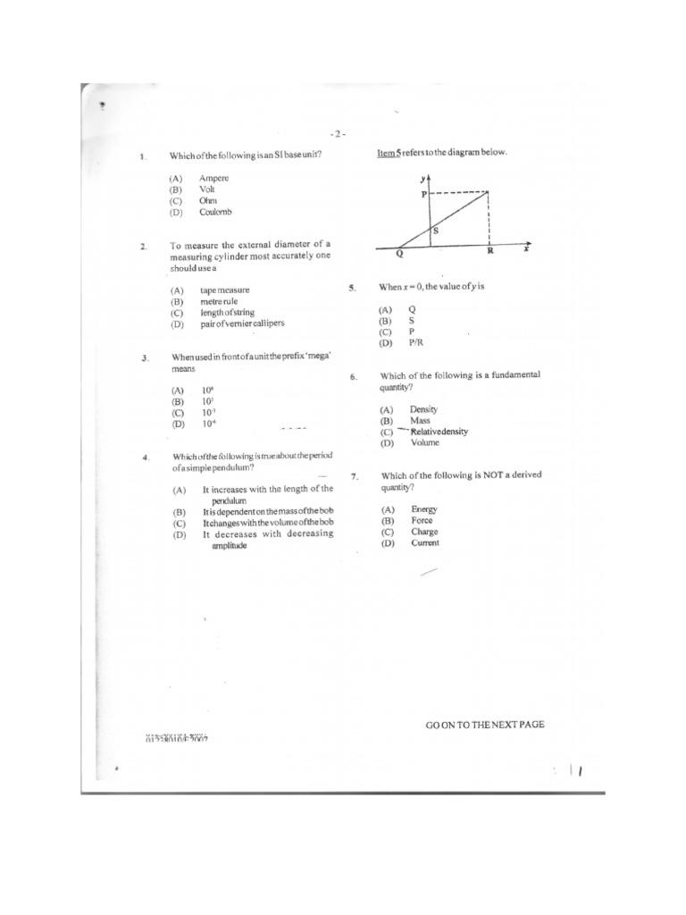 physics cxc past paper 1 2007 2011 doc