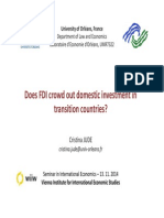 Does Fdi Crowd Out Domestic Investment in Transition Countries