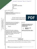 Metrotile Mfg. v. Metstar - Complaint