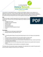 implementation team coleader job description & charges