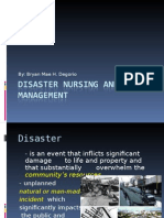 Disaster Nursing and Management