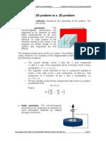 Reduction of a 3D Problem to 2D Problem