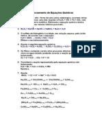 Exercícios de Balanceamento de Equações Químicas