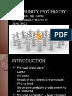 Community Psychiatry