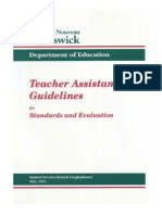 teacher assistant guidelines 1994
