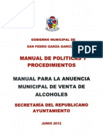 Manual para la Anuencia Municipal de Alcoholes