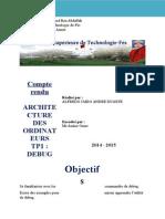 Comtpe Rendu Tp de Architecture Des Ordinateurs