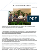 25-02-2015 Familia Padrés Elías da a conocer monto de su fortuna. (milenio.com)