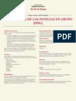 """Programa del curso de Prensa-Escuela """"La discusión de las noticias en grupo"""". Marzo 2015"""