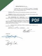 Homewood UAB Resolution