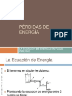 Pérdidas de Energía Por Longitud