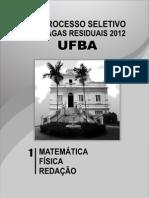 Prova Transferência Ufba