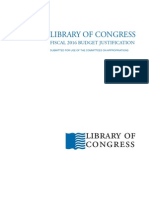 Library Of Congress Fiscal 2016 Budget Justification